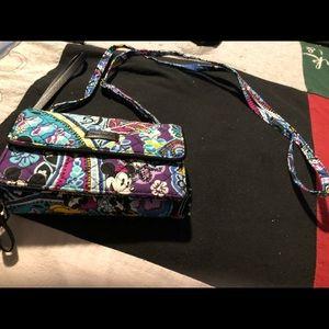 Disney Vera Bradley RFID Crossbody Wallet